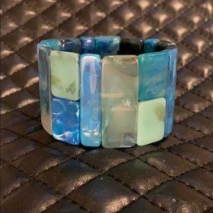 BaubleBar Turquoise Resin Stone Stretch Bracelet